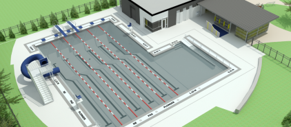 Une piscine ext rieure pr te pour 2017 lebourgneuf for Arpidrome piscine