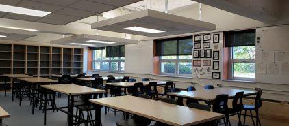 Inauguration des nouveaux locaux d'arts plastiques à l'école Saint-Jean-Eudes